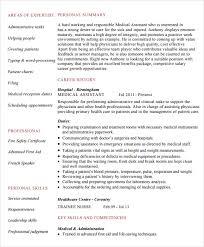 Medical Assistant Sample Resume Sarahepps Com