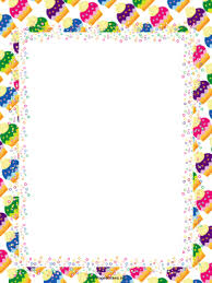 Small Picture ColorfulCupcakesPartyBorderpng