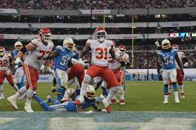 Kansas City Chiefs Running Back Depth Chart Chargers Chiefs Final Score Los Angeles Chargers Lose To