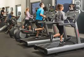 life fitness gym workout with cardio equipments