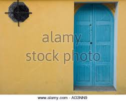 Colonial Spanish buildings facades painted with bright colors in the heart  of the historic city -
