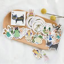 DIY <b>45pcs</b>/<b>много</b> милый дневник кота стикер животное кролик ...