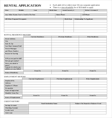 Renters Application Template 13 Rental Application Templates Free Sample Example Format