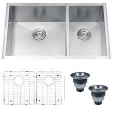 ruvati rvh7515 undermount 16 gauge kitchen sink double bowl 32 stainless steel com
