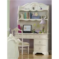 picture of legacy kids enchantment computer desk 4 drawers top drawer flips down for