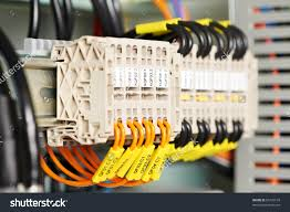 automatic electrical fuseboxes power lines located stock photo automatic electrical fuseboxes and power lines located inside of an industrial switch control panel board