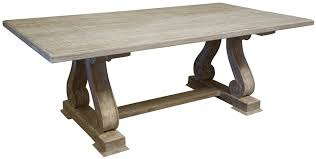 Gray Wood Dining Table Trestle Dining Tables Custommade Com Pecan