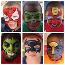 Face Painting Superheroes Design Theretroinc On Etsy Superhero Face Painting Face Painting