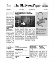 Old Fashioned Newspaper Article Template Sample Old Newspaper Template 11 Documents In Pdf Psd