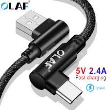 <b>OLAF</b> 5V 2.4A USB <b>Type C Micro</b> IOS 90 Degree Fast Charging Usb ...