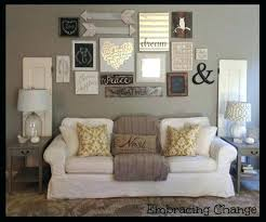 decoration ideas for wall decor love this hallway gallery idea art above sofa alluring behind hanging