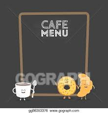 Browse the user profile and get inspired. Vector Art Kids Restaurant Menu Cardboard Character Funny Cute Mug Coffee And Donut Drawn With A Smile Eyes And Hands Clipart Drawing Gg98353376 Gograph