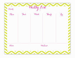 Cute Weekly Calendar Template Sharedvisionplanning Us