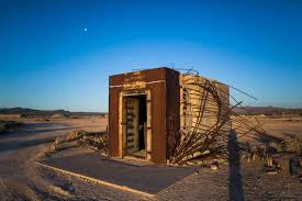 next exit armageddon photos of america s nuclear weapons legacy the mosler bank vault constructed to determine the effects of nuclear weapons on civil structures survived a 37 kiloton blast in 1957 at the nevada