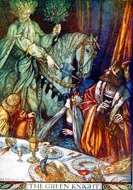 a scene from sir gawain and the green knight
