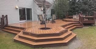 deck patio with fire pit.  Pit Other Amazing Deck Patio With Fire Pit 5 In F