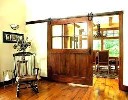 barn door with glass panels in sliding ki