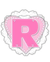 Romantic Letter Amazing The Letter R In The Alphabet Set Romantic Valentine Is Pink