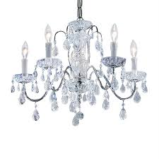 classic lighting daniele 22 in 5 light chrome crystal candle chandelier