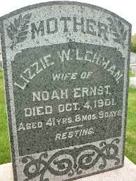 "Elizabeth Weaver ""Lizzie"" Lehman Ernst (1860-1901) - Find A Grave Memorial"