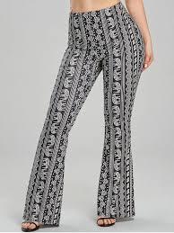 Flare Pants Pattern Best 48 African Elephant Print Flare Pants In BLACK M ZAFUL