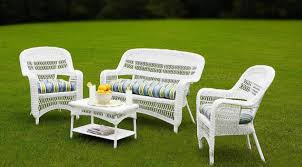 Patio Outdoor Patio Table White Plastic Wicker Chairs 3 Piece