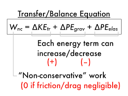 in contrast to the incomplete work energy theorem this is the complete form of total energy conservation equation which shows how the transfer of energy