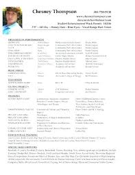 Acting Resume Examples Fascinating Actors Resumes Examples Acting Resume Example Here Are Beginners