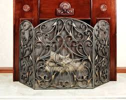 rod iron fireplace screen decorative fireplace screens wrought iron fireplace screens photo home ideas collection to