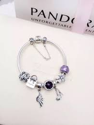 219 pandora charm bracelet purple hot