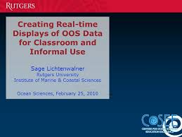Creating Real Time Displays Of Oos Data For Classroom And