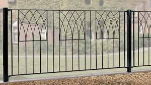 metal fence panels. Abbey Wrought Iron Style Metal Garden Fence Panel Panels