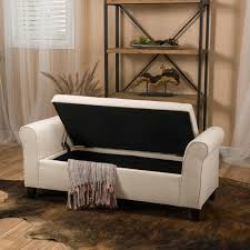 Bench End Of Ottoman Bedroom Inspired Upholstered Storage Bench