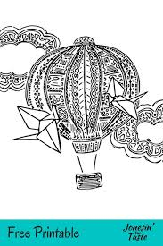 Happy children's day kids coloring pages. Hot Air Balloon Coloring Page Jonesin For Taste