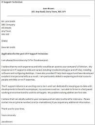 Desktop Support Technician Cover Letter Download Sample For Www