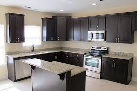 blue kitchen backsplash dark cabinets. White Shaker Cabinets Dark Kitchen Cabinet Handles Espresso Walnut Door Wall L Shape Blue Backsplash I