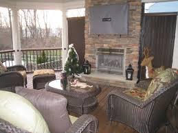 custom covered deck design deck fireplace amazing deck