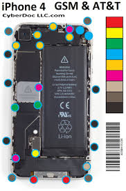 Iphone 4 Screw Chart Pdf Buy Iphone 4 4g Gsm Cyberdoc M Magnetic Screw Chart Mat For