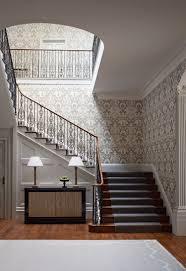 Stairway Wallpaper Design Hall Stairs And Landing Wallpaper In 2020 Hallway Designs