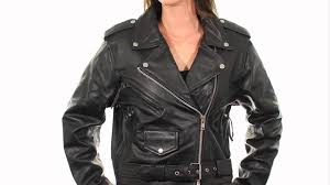 b7800 xelement women s classic black leather jacket at leatherup com