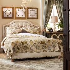 Solid Wood Contemporary Bedroom Furniture Glamorous Cal King Beds Solid Wood Material Memory Foam Mattress