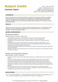 Use clear section headings and make them stand out with bold type, capital letters, and/or a different color. Chemistry Teacher Resume Samples Qwikresume