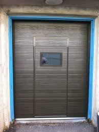 garage door with entry doorResidential Walk Through Garage Door Installation  Repair