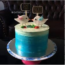 Love Birds Engagement Hantaran Cake Fb