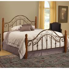 wood and iron bedroom furniture. San Marco Wood \u0026 Iron Bed In Brown Copper And Bedroom Furniture
