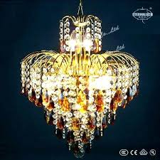 shocking colored crystal chandelier champagne colored crystal chandelier