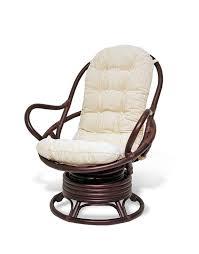 java swivel rocking chair dark brown with cushion rocker swivel patio chairs with cushions