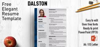 Powerpoint Resume Templates Cool √ Dalston Elegant Powerpoint Resume Template Exclusive Powerpoint