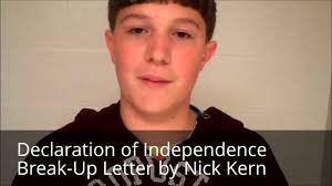 Declaration Of Independence Break Up Letter By Nick Kern Youtube