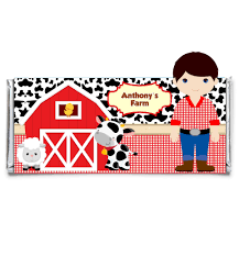 personalized chocolate bar wrappers farm personalized candy bar wrapper set of 12 art paper creative party